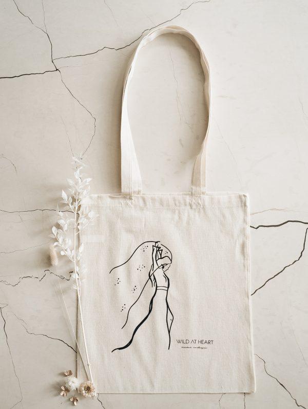 tote bag line drawing