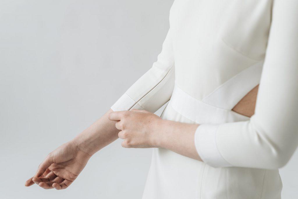 minimalistische trouwjurk