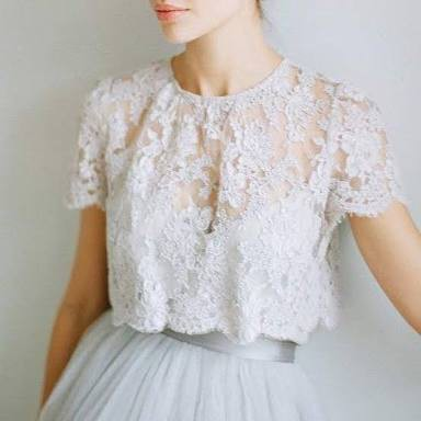 Louise lace top Alexandra Grecco