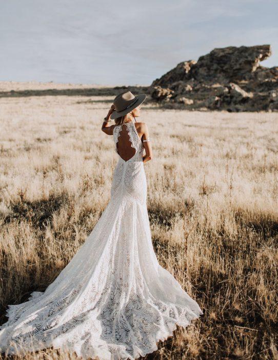 Bohemian wedding dress Sweden