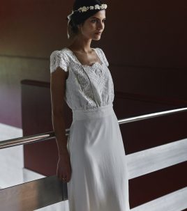 Welles wedding dress Laure de Sagazan
